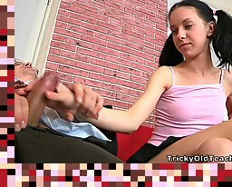 miniskirt teen old man